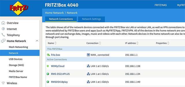 De IP-adressen netjes op een rijtje in een FritzBox