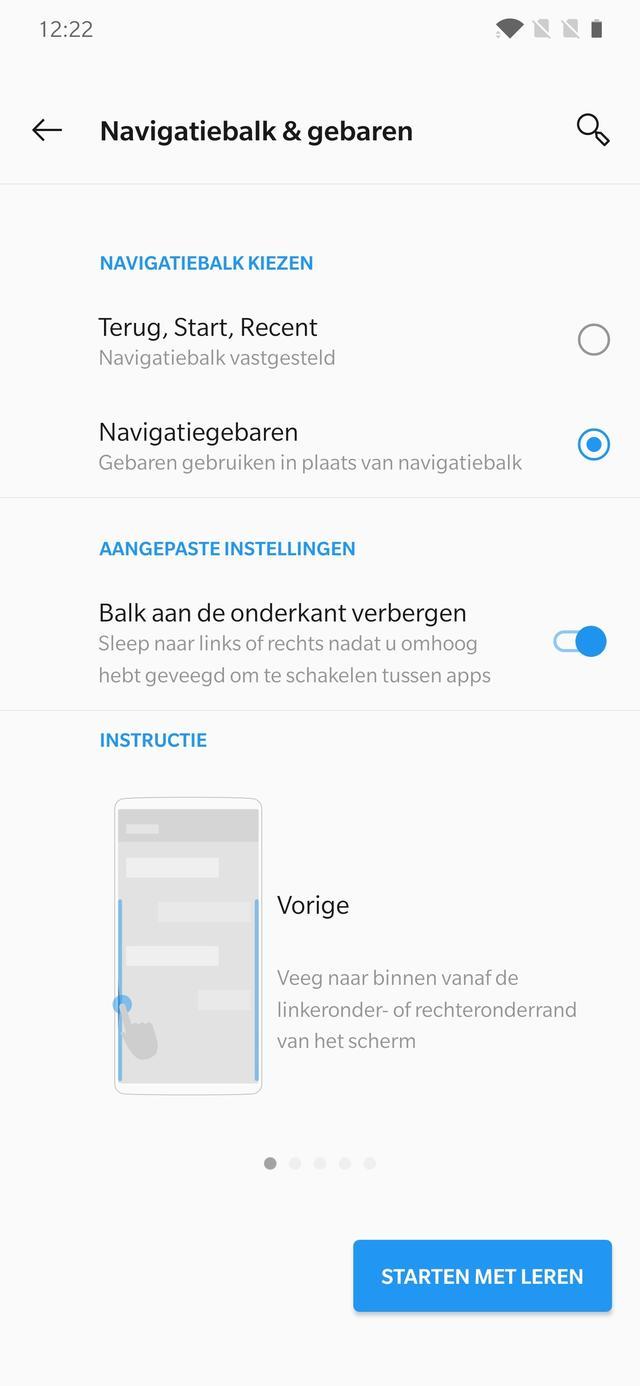android 10 gebaren
