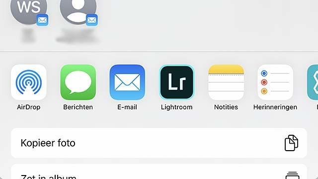 De deelopties in iOS 13 zijn wat veranderd