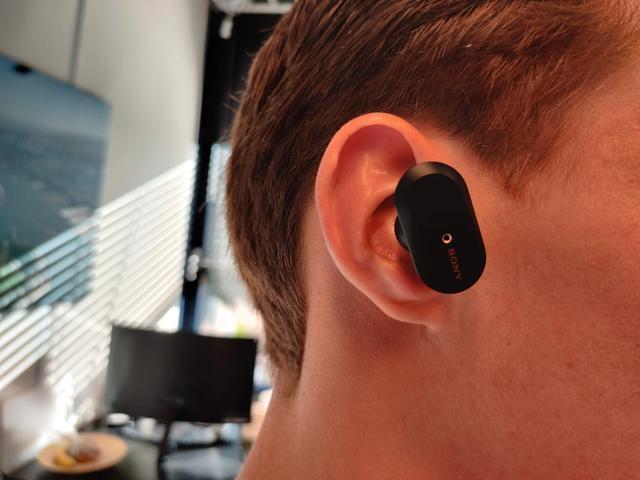 Sony WF-1000XM3 in het oor