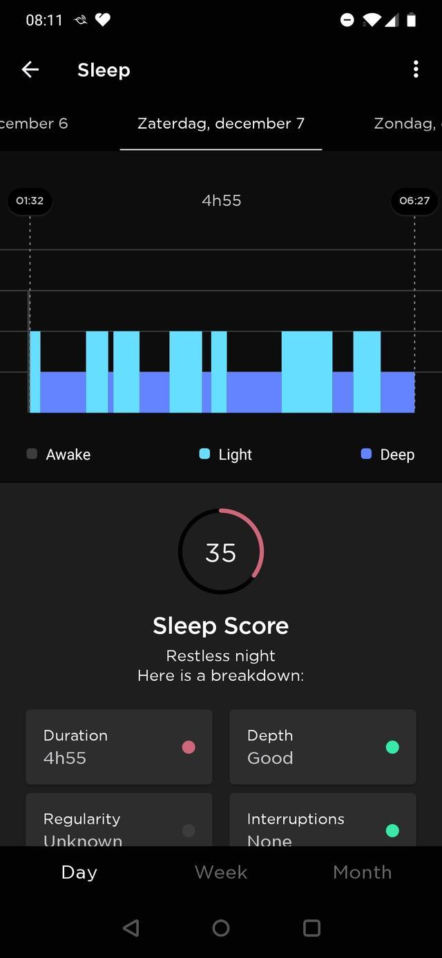 Withings Move ECG slaap 2