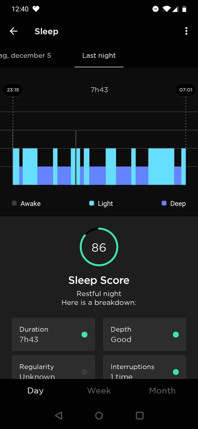 Withings Move ECG slaap 1