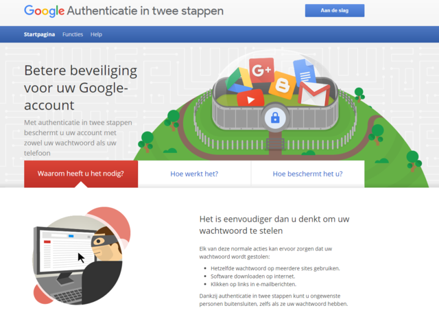Google authenticatie