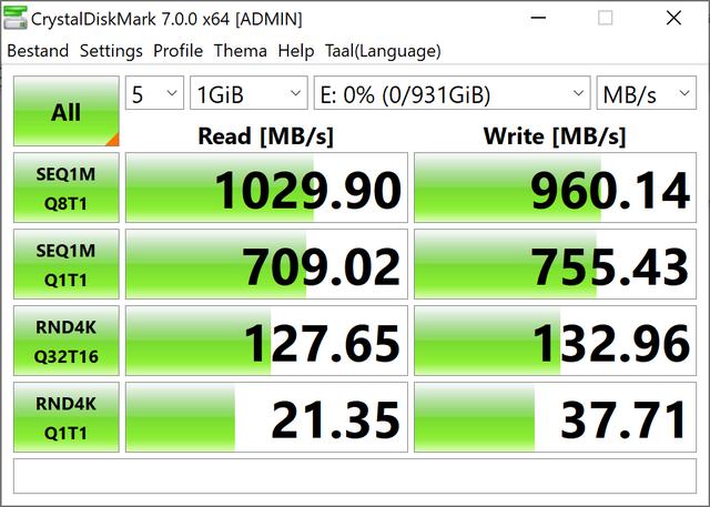 De prestaties van de Samsung Portable SSD T7 Touch