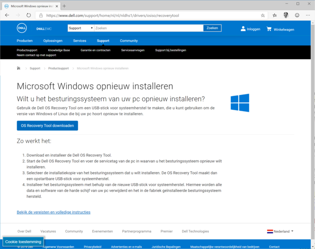 Windows opnieuw installeren