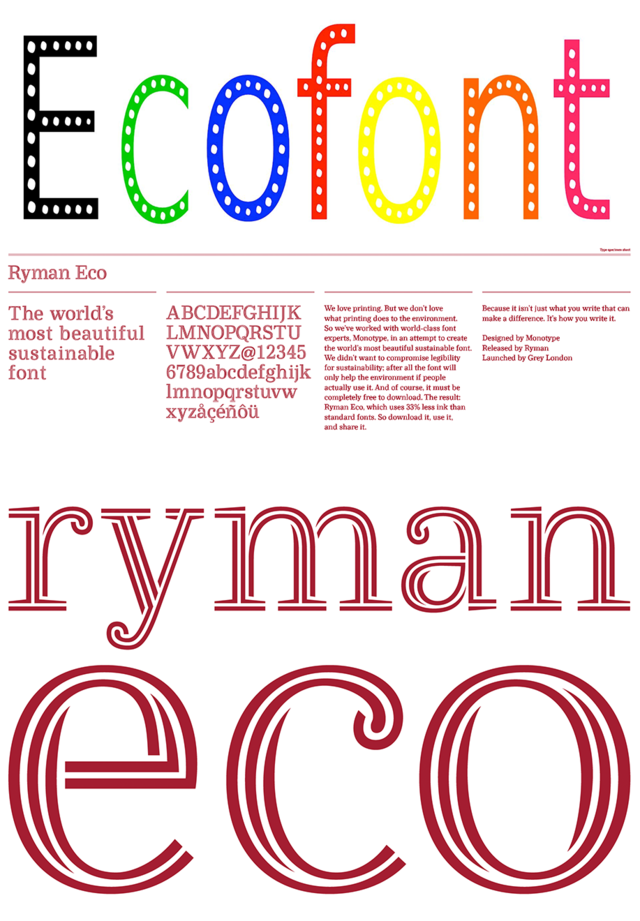 eco-lettertypes