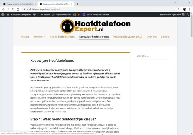 Statische webpagina