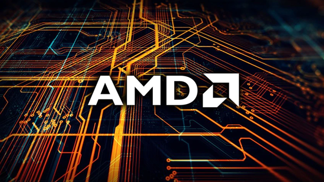 Logo van chipfabrikant AMD