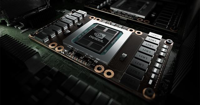Render van een NVIDIA grafische chip in een groter systeem