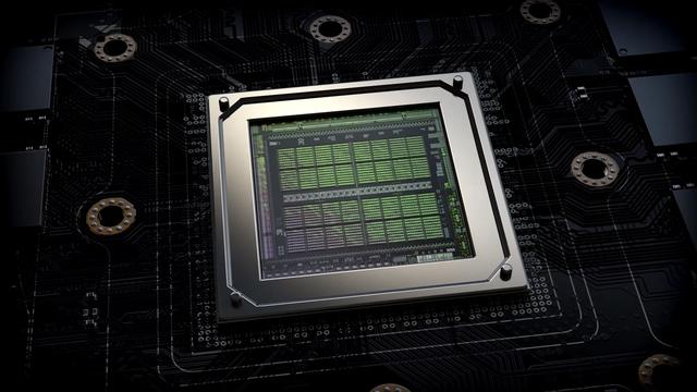 Render van de chipset op een RTX 30-serie grafische kaart