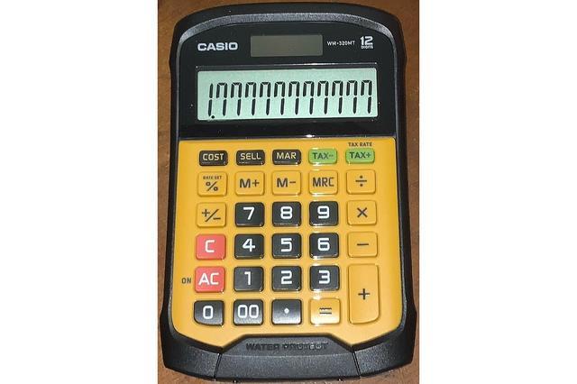 Die aloude rekenmachine - ze bestaan nog! - komt van pas als je de door de resolutiebomen heen de verhoudingen niet meer ziet.