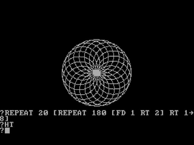 Zo ging dat vroeger met Logo, hier in PC-uitvoering.
