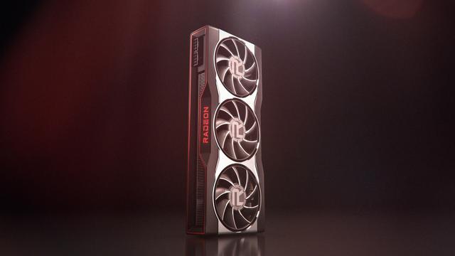 Render van de AMD Radeon RX 6000 videokaart.