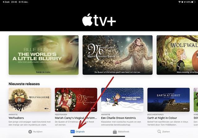 Handig, via de nieuwe tab (of knop zo je wilt) bereik je razendsnel je '+'-content in de Apple TV-app.
