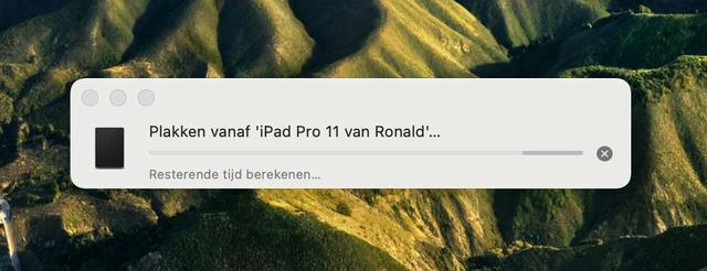 Gelukkig werkt ook Handoff weer na de update naar macOS 11.1, waarmee een gedeeld klembord tussen verschillende Mac's of bijvoorbeeld een Mac en een iPad weer mogelijk is.