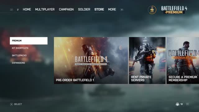 Battlefield 4 UI