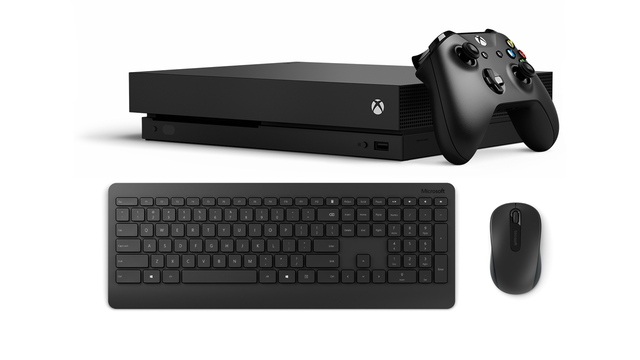 Xbox One X keyboard