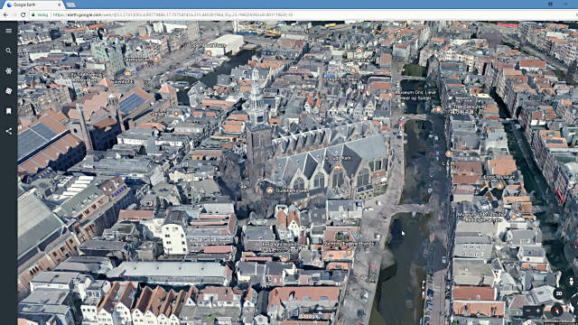 Google earth draait in browser Chrome