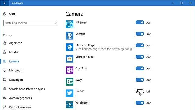 Niet alle apps hoeven toegang tot je webcam te krijgen