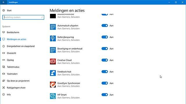 Bepaal welke apps in Windows 10 meldingen mogen genereren