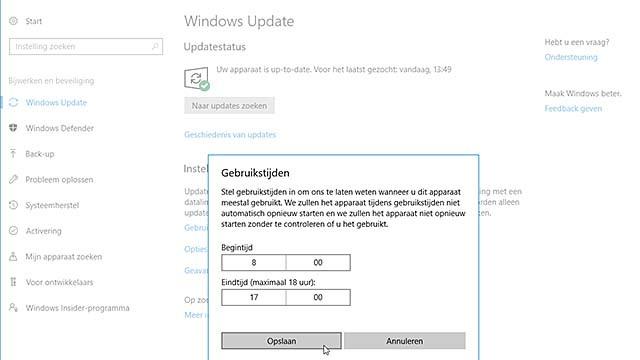 Krijg (een heel klein beetje) controle over de Windows 10 updates