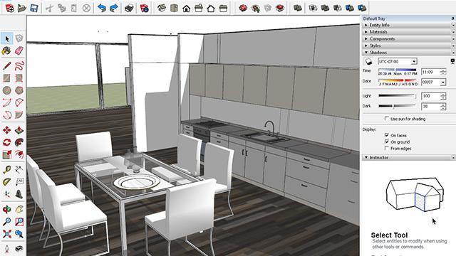 3d interieur design met sketchup nieuws. Black Bedroom Furniture Sets. Home Design Ideas