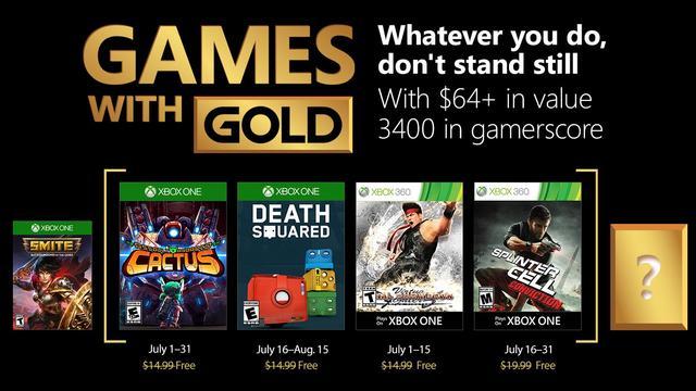 Afbeeldingsresultaat voor games with gold juli 2018