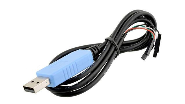 Seriële kabel op Raspberry Pi aansluiten