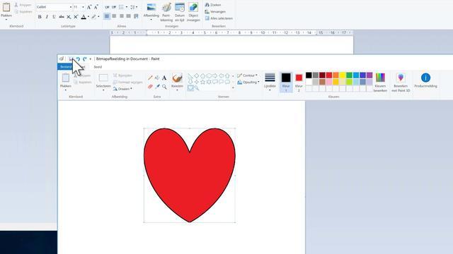 Gebruik Paint om tekeningen mee aan WordPad toe te voegen