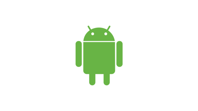 Android logo wit groen