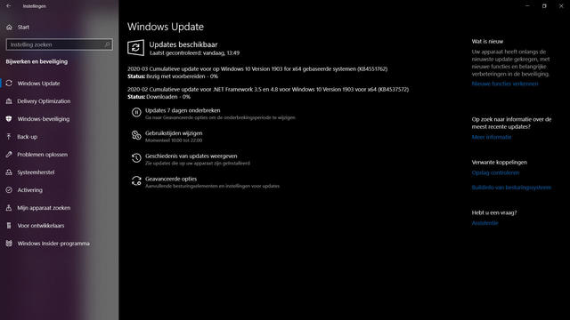 Updates Windows 10