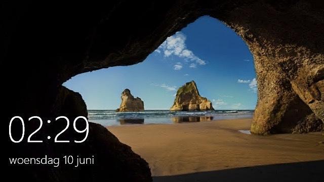 Het vergrendelingsscherm van Windows 10 is tweakbaar